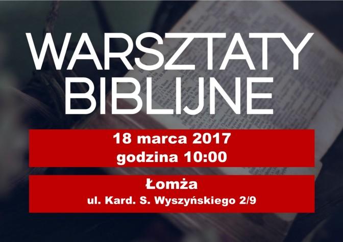 Zapowiedź: Warsztaty Biblijne diecezji łomżyńskiej